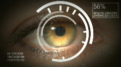 Screen over eye - stock footage
