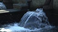 Salmon Hatchery water spouts Stock Footage