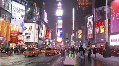Times square night Stock Footage