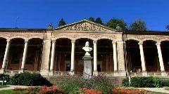 Trinkhalle architecture in Baden-Baden Stock Footage