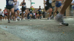 Streetview of Marathon - stock footage