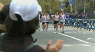 Male runners in marathon Stock Footage