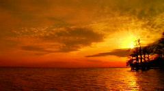 AlbemarleSound Sunset 0010GK Stock Footage