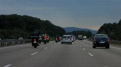 Motorbike in germany highway autobahn - stock footage