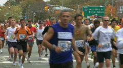 Stock Video Footage of Marathon Beginning (1 of 3)