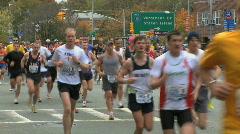 Stock Video Footage of Marathon Beginning (3 of 3)