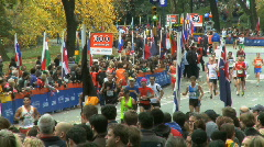Marathon Crowds - stock footage
