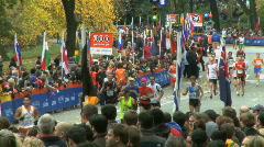 Marathon Crowds Stock Footage