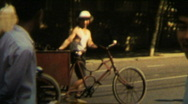 Stock Video Footage of 1970s China man and bicycle - Vintage 8mm Film