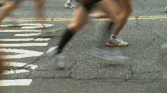 Running Feet - stock footage
