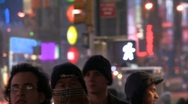 Stock Video Footage of People in New York Streets at traffic light