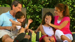 Family Outdoor Lifestyle Stock Footage