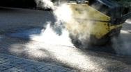 Steamroller at Roadworks, Road works Stock Footage