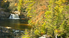 Beginning of Linville Falls Stock Footage