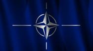 NATO Flag Loop Stock Footage