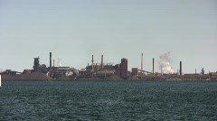 FactoryOntheBay-Oct-18-2009 - stock footage
