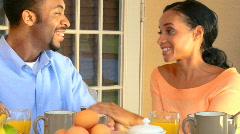 Healthy Breakfast Lifestyle Stock Footage