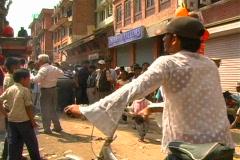Kathmandu Street Scene 4 Stock Footage