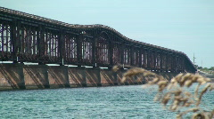Bahia Honda Rail Bridge, Florida Keys Stock Footage