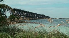 Bahia Honda Rail Bridge Wide 2 Stock Footage