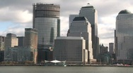 Approaching Manhattan financial area Stock Footage