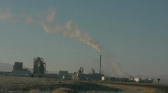 Factory and winter Stock Footage