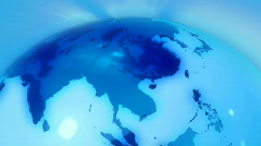 Blue globe in motion Stock Footage