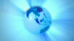 Rotating globe background Stock Footage