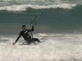 Kitesurfing hand drag Stock Footage