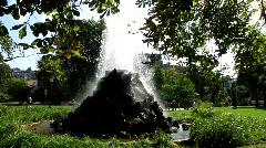 Water Fountain in Baden-Baden Stock Footage