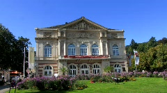 Theatre in Baden Baden, Black forest Stock Footage