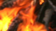 Stock Video Footage of Fire out of focus