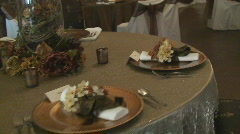 BanquetTable07 Stock Footage