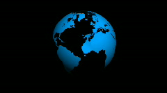 Loopable transparent globe - stock footage