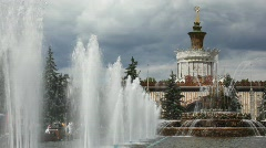 "Fountain ""Stone flower"" at All-Russia Exhibition   Stock Footage"