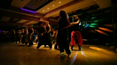 Dance troupe performing in club Stock Footage