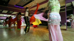 Show troupe bellydancing Stock Footage