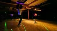 2 girls dancing in club Stock Footage