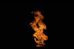 Single flame (fire loop) - stock footage