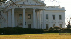 U.S. White House, Zoom In Stock Footage