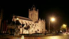 Christ Church, Dublin, Ireland Stock Footage