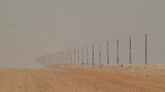 Desert poles, Namibia, Africa Stock Footage
