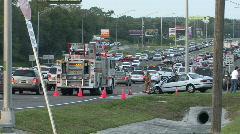 Scene of US-19 Car Crash Stock Footage