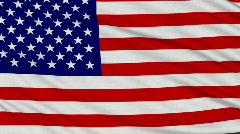 American Flag, with real structure of a fabric - stock footage