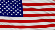 Stock Video Footage of American Flag, with real structure of a fabric