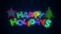 Happy Holidays 02 Stock Footage