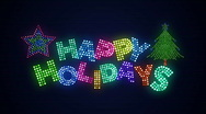 Stock Video Footage of Happy Holidays 02