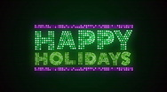 Stock Video Footage of Happy Holidays 01