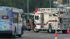 Fire Truck At Scene of US-19 Car Crash Stock Footage