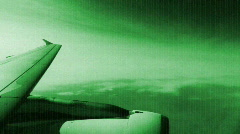 airplane clouds sky flight travel airbourne  - stock footage